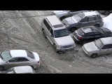 Уборка снега в Самаре на Крузаке. Самара 08.02.2018