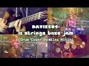 DAVIE504 -12 STRINGS BASS JAM (DRUM COVER BY ALEX MININ)