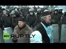 24 января 2014. Киев, Гуршевского. Ukraine: 'Mothers of Ukraine' urge police to end violence