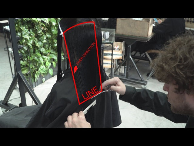 How to cut line technique, women's haircut