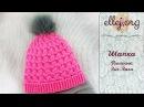 ♥ Розовая шапка крючком с узором Пышные Зиг-заги • Pink crocheted hat Shells and puff zig-zag