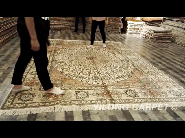 Tabriz silk carpet handmade kashmir silk rugs carpets