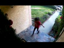 Kid Steals Package from Front Porch || ViralHog