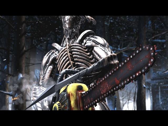 Mortal Kombat XL - Alien Performs All Character Intros / All Characters Perform Alien Intros