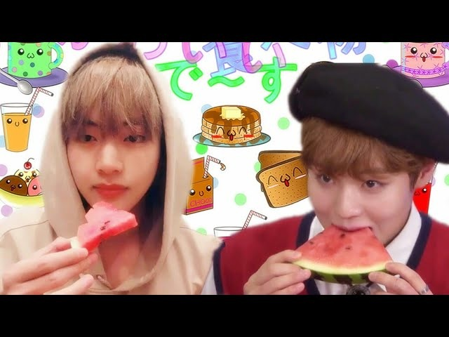 Wanna One Jihoon VS BTS V Cute Eating Like a Copy Paste