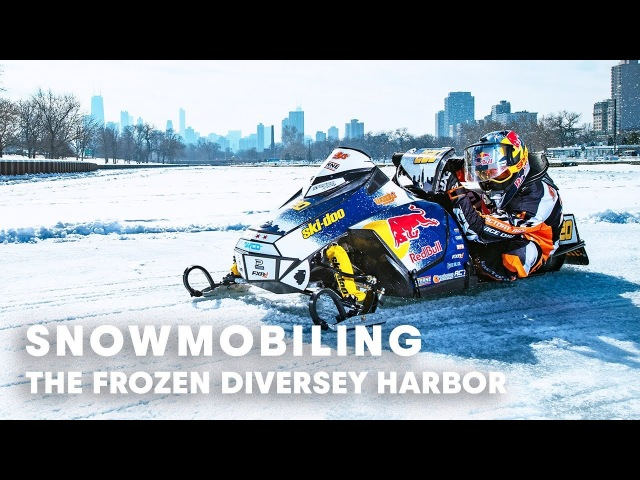 Snowmobiling on the Frozen Diversey Harbor, Chicago | w Gunnar Sterne