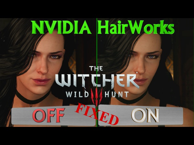 The Witcher 3: Wild Hunt NVIDIA HairWorks ON vs OFF (1080p, Ultra) FIXED