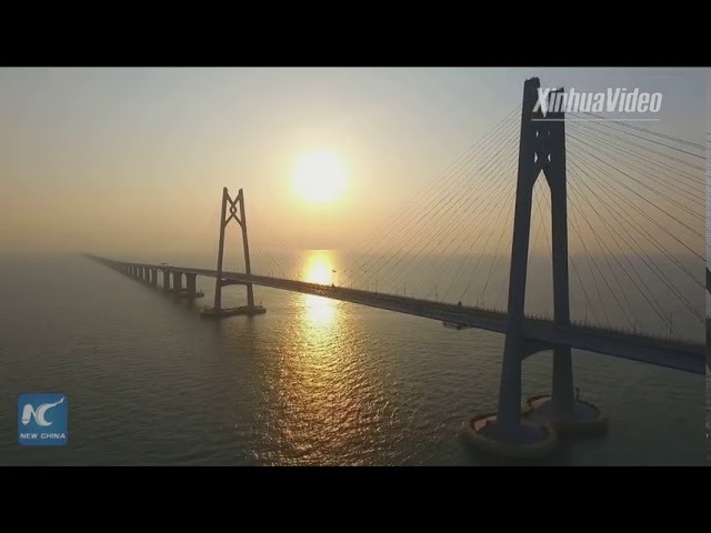 World's longest sea bridge Hongkong-Zhuhai-Macao in SE ready for trial operation