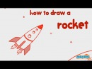 How to draw a Rocket Step by Step Guide Learn Drawing for Kids Kid Education by Mocomi Kids