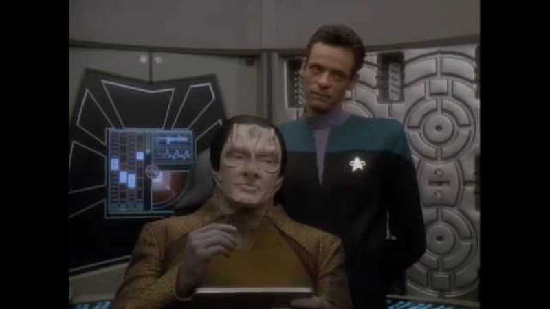 Garak reinterprets the moral to The Boy Who Cried Wolf from Star Trek DS9 S03E20