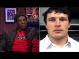 Carolina Panthers linebacker Luke Kuechly catches up with Deion Sanders