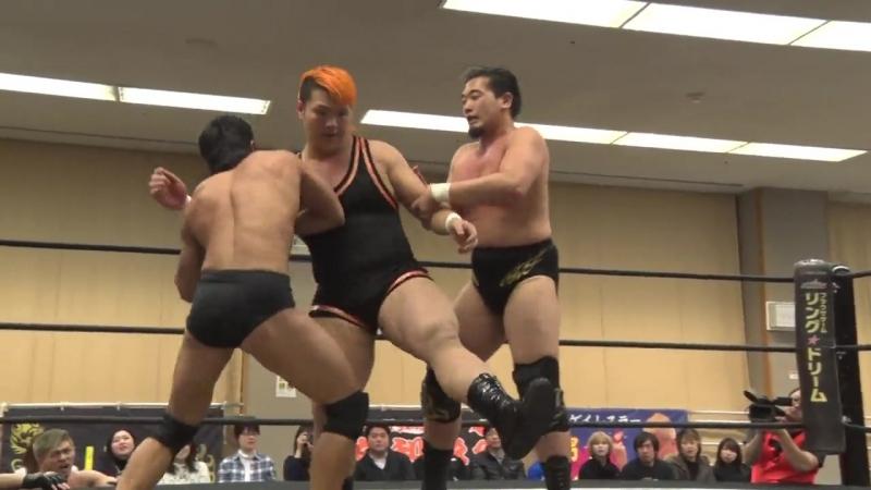 Kazusada Higuchi Yuki Ueno vs Naomi Yoshimura Keisuke Okuda DDT Tsuyuhashi Again in Nagoya 2018