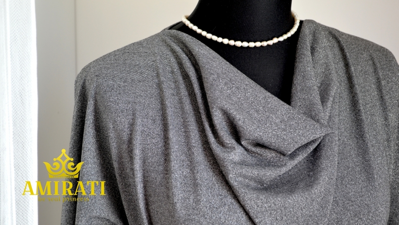 Платье-туника ЛИЗЕТТА в черно-серебристом цвете