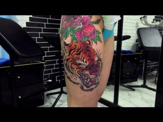 Тату-мастер Серёга Попович (new school tattoo tiger) | Тату - студия Дом Элит Тату (Tattoo Studio Moscow)
