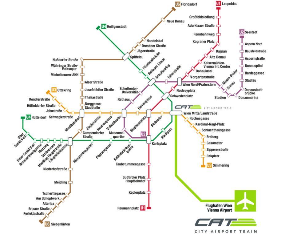 Схема Венского метрополитена