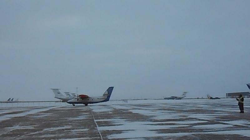 Аэропорт Восточный. Ульяновск, рейс из Нижнего Новгорода 11 января 2018 (c)www.ulgrad.ru