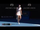 М.Шарапова - A Севастова 6:1, 7:6. 2-й круг. Australian Open 2018. 18 января
