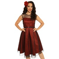 d44dd369b6f Красное коктейльное платье с пышной юбкой