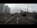 Авария на Притыцкого в стоячий автобус на остановке. 20.11.2017