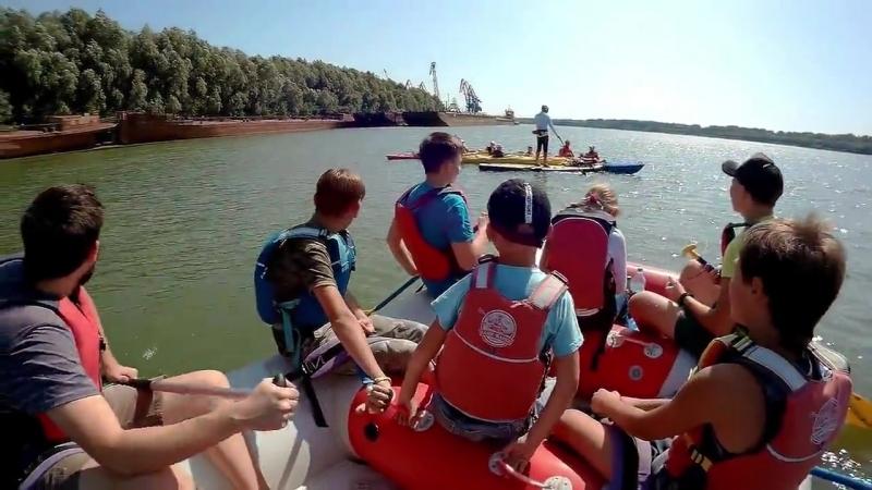 Сплав на катамаране с детьми по Дунаю 02.09.17