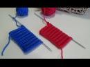 Английская резинка 2 способа вывязывания Двойная петля и накиды Pattern English elastic b