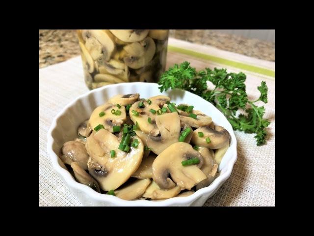 Быстрые МАРИНОВАННЫЕ ГРИБЫ за 2 часа Шикарное Блюдо для Постного Стола Marinated mushrooms