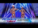Men With Pans: Comedy Duo Perform With A Surprising Wardrobe Choice - America's Got Talent 2017