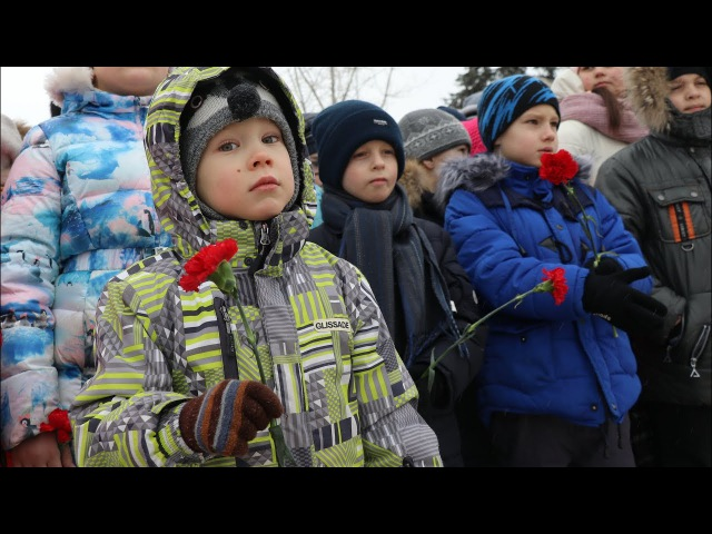 День Сталинградской победы! Траурный митинг в парке имени Ю.А. Гагарина города В ...