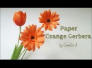 Crepe paper flowers , How to make paper Gerbera Daisy flower from crepe paper