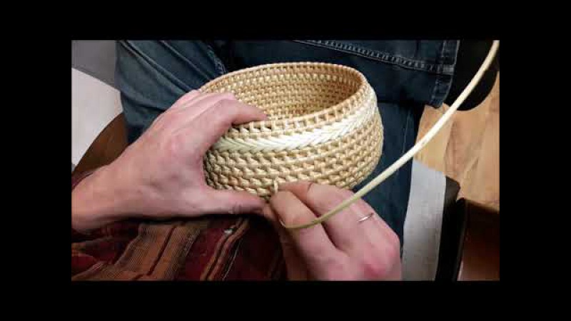 Плетение косички лентой