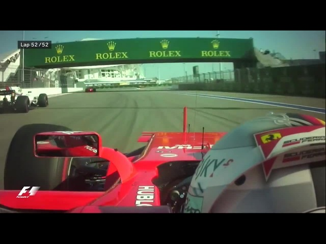 Vettel Finger On Final Lap