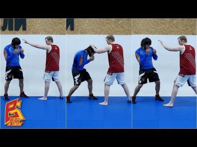 Маятник в движении - защита и работа ног. Техника бокса. Эльмар Гусейнов.