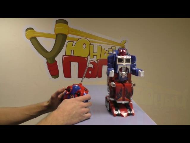 Полный обзор робота трансформера Оптимус Прайм 28128 Красно Синий