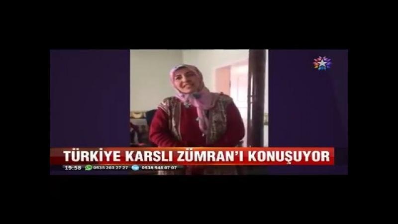 Türkiye güleç yüzlü Karslı Zümranı konuşuyor