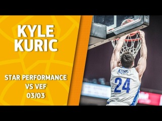 VTBUnitedLeague • Star Perfomance. Kyle Kuric vs VEF - 31 pts & 7 rebs!