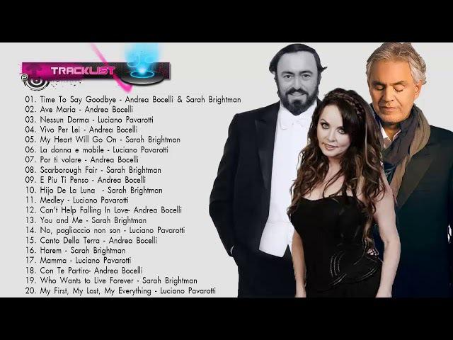 Andrea Bocelli, Sarah Brightman, Luciano Pavarotti : Greatest Hits 2018