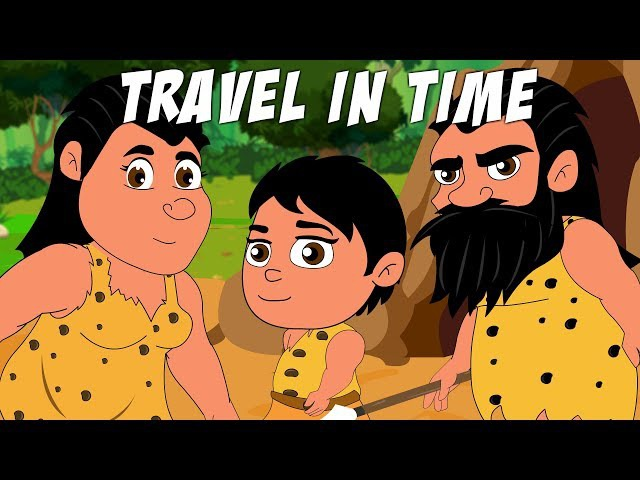 Travel in Time How Did the First Humans Live | Life of Early Man Lesson Cartoon E learning