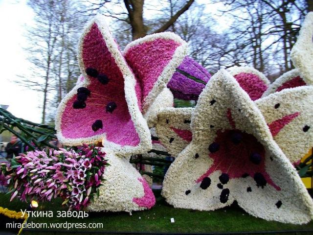 Волшебные фигуры из цветов, как украшение для дачи