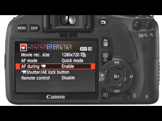 HD video on the Canon EOS 550D Rebel T2i camera