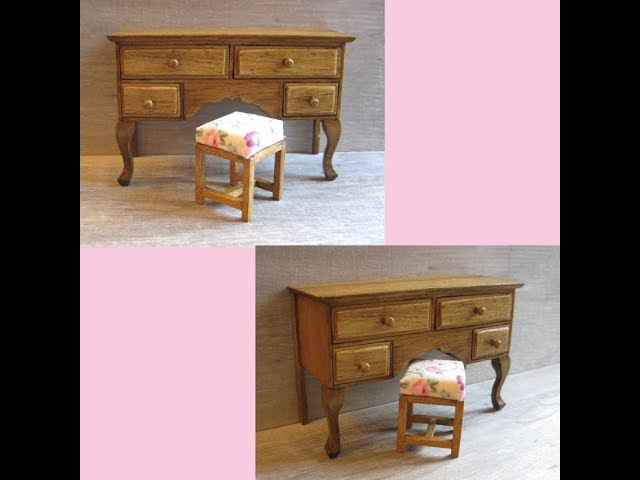 1/12th Scale Dressing Table Stool Tutorial
