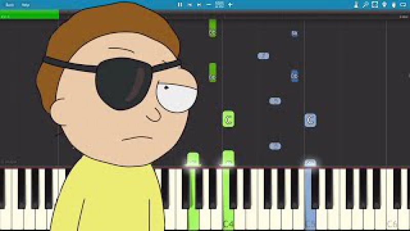 For The Damaged Coda Piano Tutorial - Evil Morty Theme - Rick Morty - Blonde Redhead