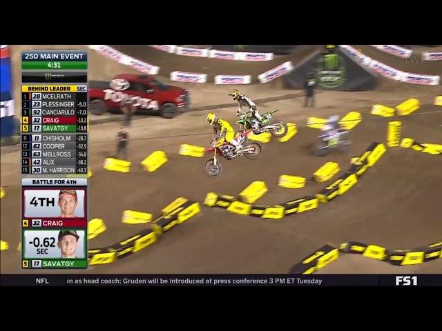 AMA Supercross 2018 Anaheim - Main Event 250cc