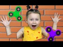 Вредные детки ФИДЖЕТ СПИННЕР Kids Prank Magic Fidget Spinner Bad Kids учат цвета nursery rhyme song