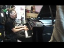 Bram Wijands playing some monster stride piano on the Sauter at NAMM