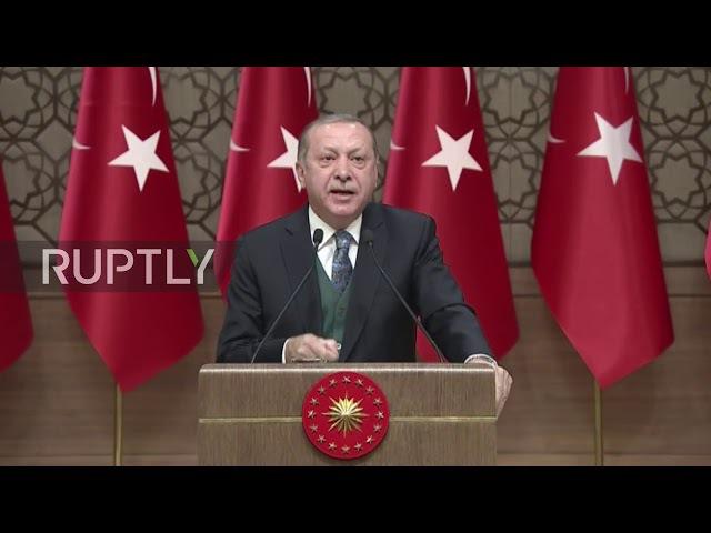 Turkey Erdogan urges world to stand up to Trumps threats