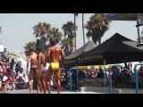 Muscle Beach Venice, CA July 4, 2014 Novice  Mens  Bantum  Weight