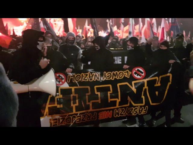 Marsz Niepodległości 2017 - J***ć antife!