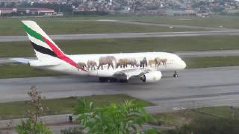 Primeiro pouso do Airbus A380-800 no Aeroporto de Guarulhos - GRU