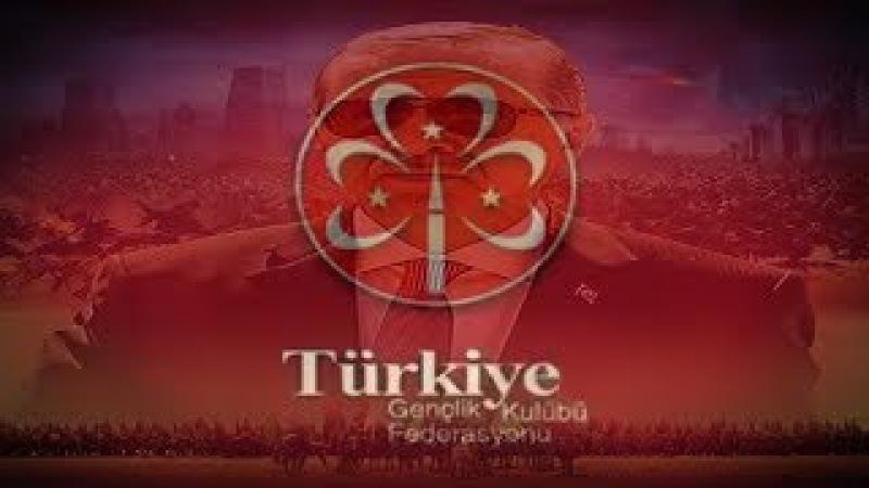 MERINDING Erdogan dan ratusan ribu pemuda Turki mendeklarasikan