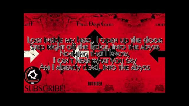 Three Days Grace - The Abyss (LYRIC VIDEO) [From the Outsider album 2018]